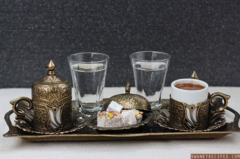 How to serve turkish coffee
