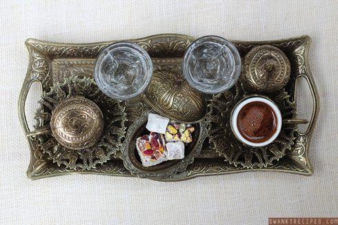 Turkish Coffee Serving Tray