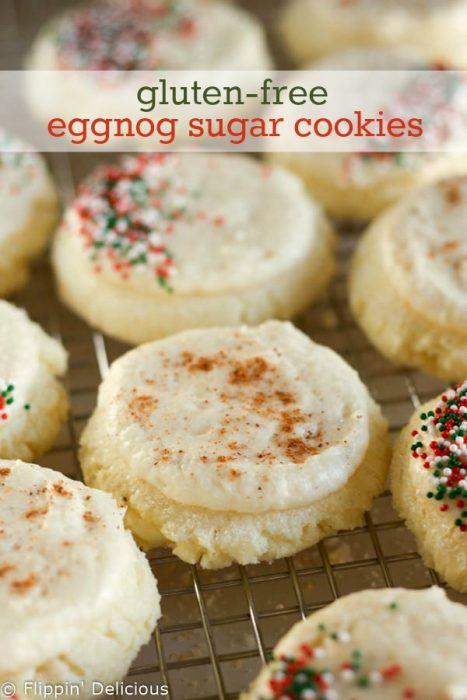 Glueten Free Eggnog Sugar Cookies