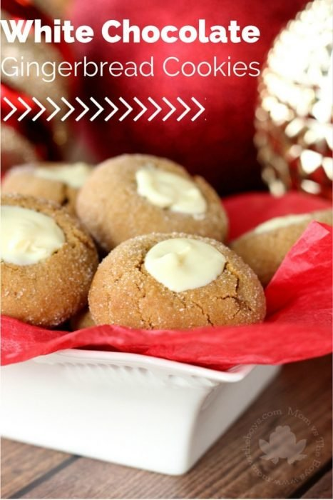 White Chocoalte Gingerbread Cookies