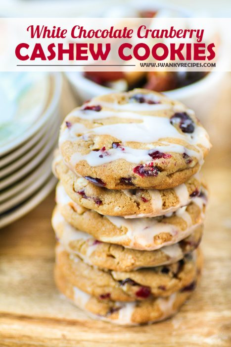 White Chocolate Cranberry Cashew Cookies