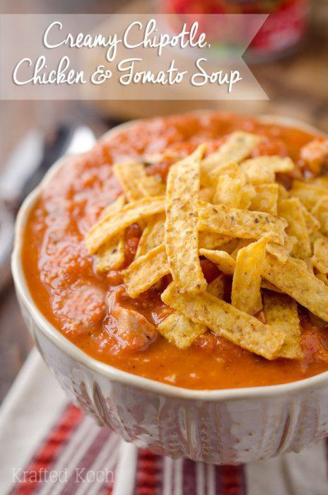 Creamy Chipotle Chicken Tomato Soup
