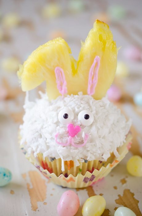 Coconut Cream Easter Bunny Cupcakes