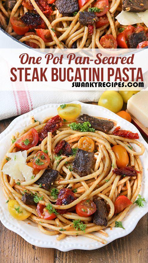 One Pot Steak Pasta