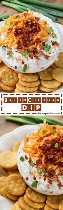 Bacon Cheddar Dip Recipe Long Photo