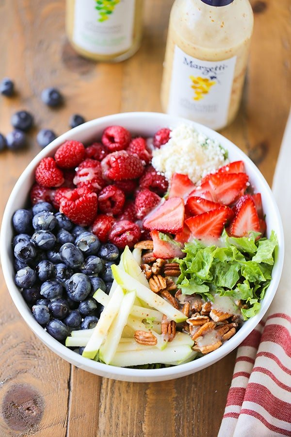 Berry Feta Salad with Dijon Champagne Dressing