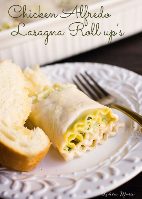 Chicken Alfredo Lasagna Roll Ups - Lasagna is a timeless classic that our family makes over and over again. We love to make these Chicken Alfredo Lasagna Roll Ups that are the perfect portion size to mix things up.