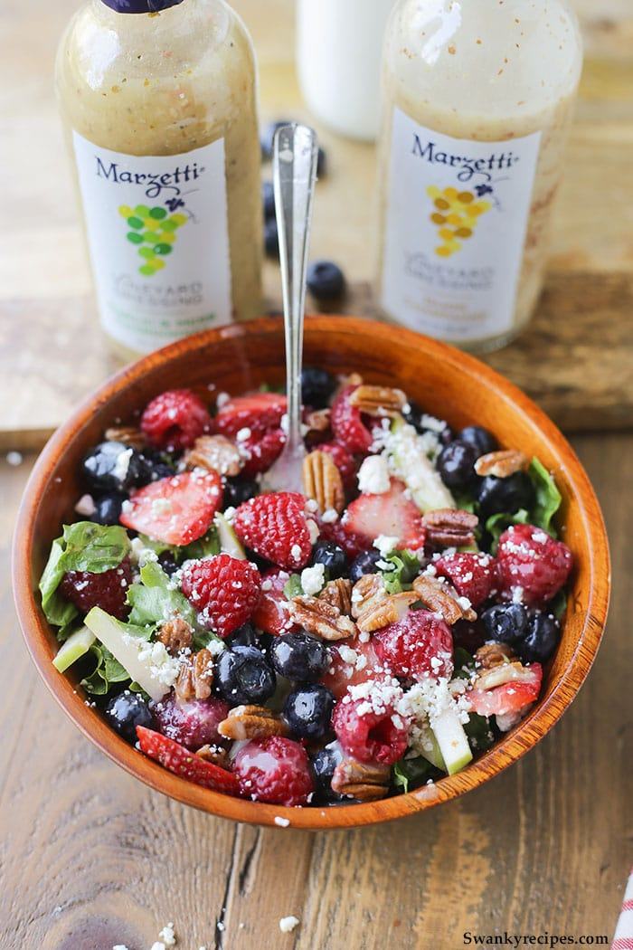 Strawberry Raspberry Salad