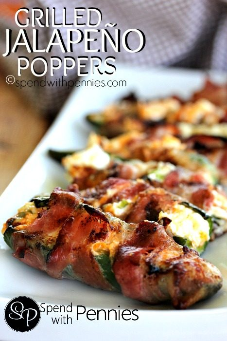 Jalapeno Poppers - {RECIPE ABOVE} The only appetizer you'll want for cookouts, summer holidays or parties. Serve as a snack, appetizer or a side dish. These Jalapeno Poppers make a great addition to any feast.