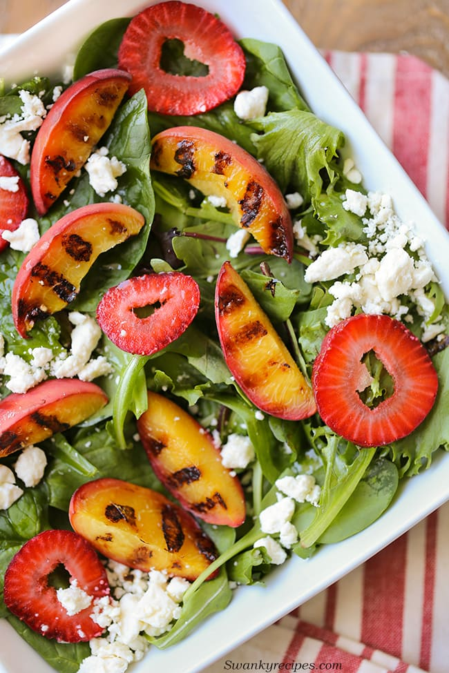 Strawberry Grilled Peach Salad