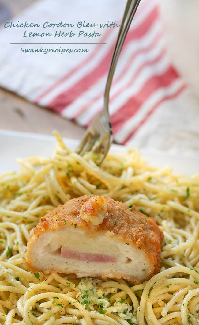 chicken-cordon-bleu-with-lemon-parsley-pasta