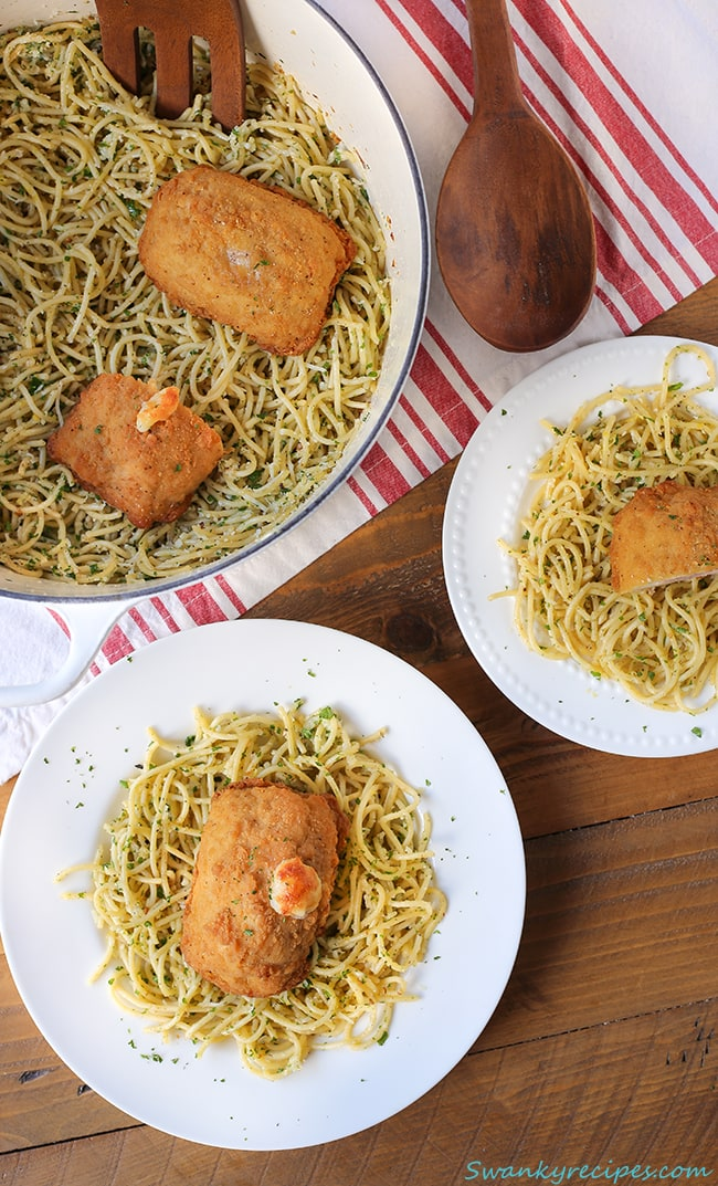 chicken-cordon-bleu-with-lemon-pasta