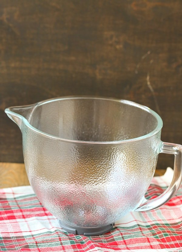 Hammered KitchenAid Glass Mixing Bowl