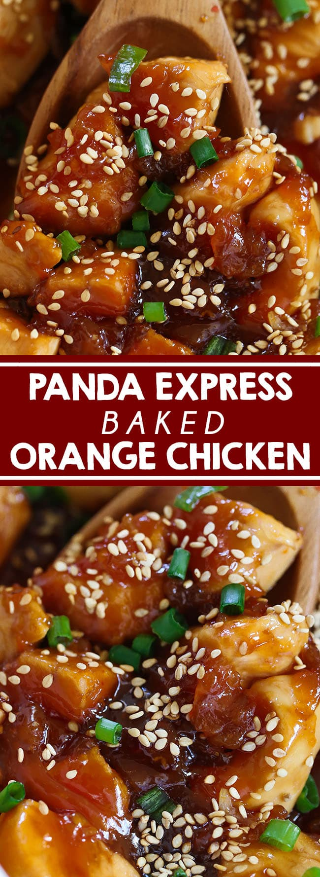Panda Express Orange Chicken - A family favorite! Made in one dish and baked. Simple ingredients and amazing orange citrus flavor! #chinesefood #asianfood #chicken