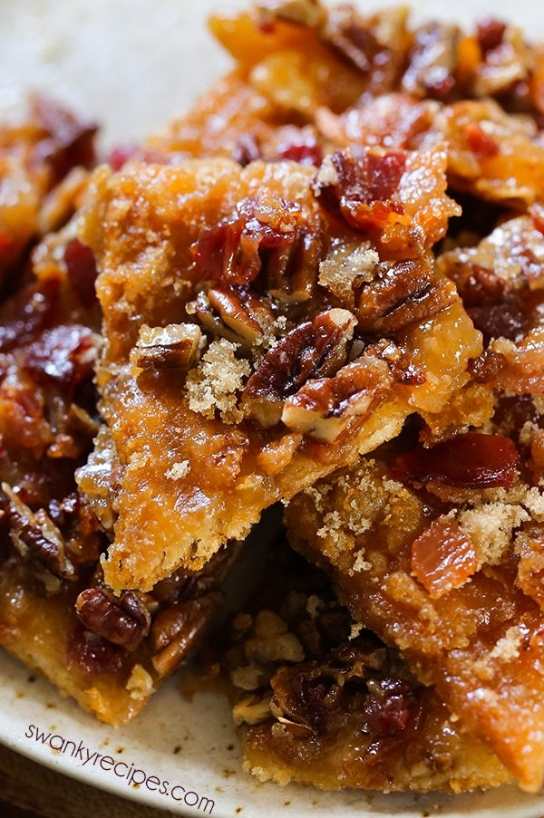 Maple Bacon Crack - You'll love this sweet and salty breakfast pastry this holiday season! Everyone raves that it's delicious! This easy to make maple bacon crack tastes just like an overnight french toast casserole.