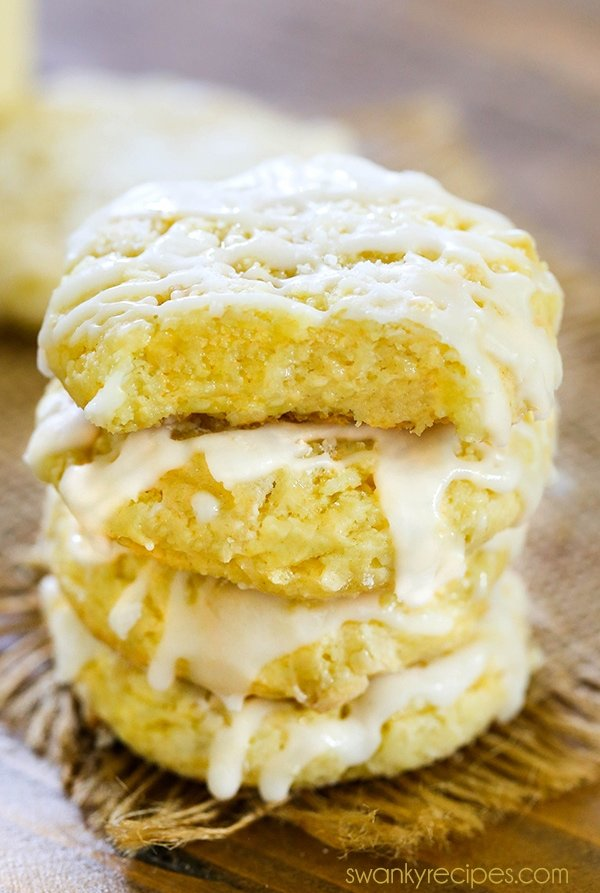 Gooey Butter Cookies - Decadent gooey, chewy, and buttery cake mix cookies. These Gooey Butter Cookies have a rich butter flavor, chewy center, and tender cookie texture. Drizzled in icing. Love these butter cookies for Christmas and holiday season!