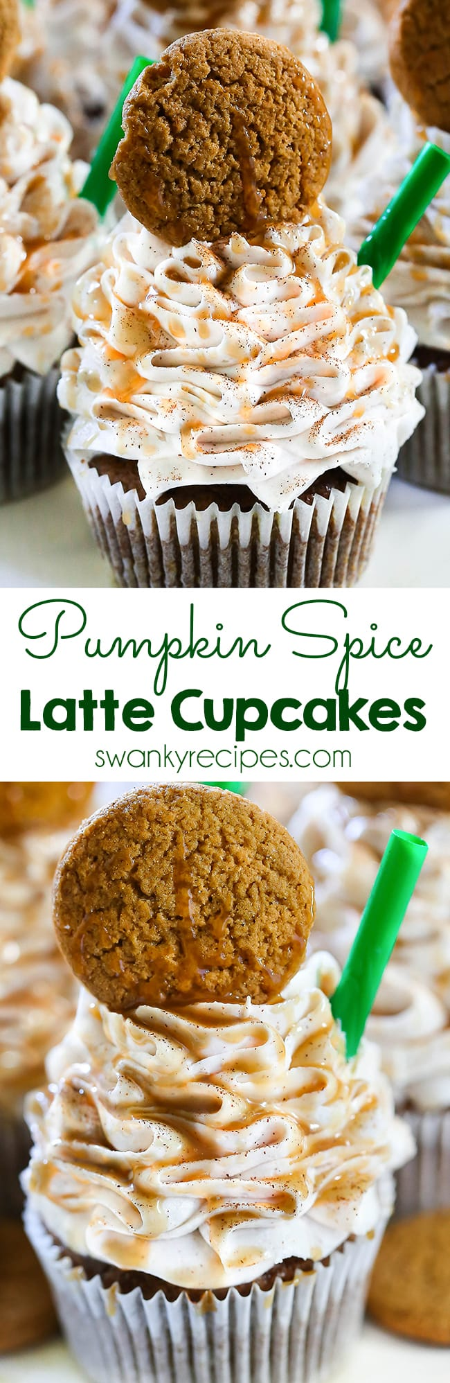 Pumpkin Spice Latte Cupcakes - A Starbucks dessert recipe. Everyone loves these Starbucks Pumpkin Spice Latte Cupcakes. Made with caramel sauce and pumpkin, these cupcakes are the perfect fall dessert.