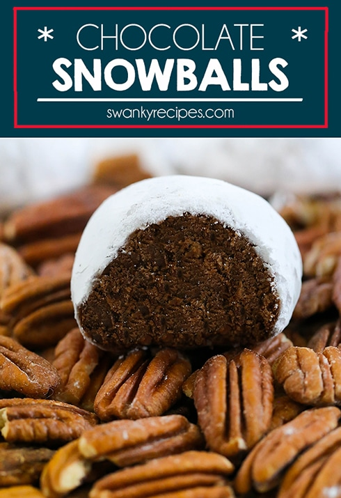 Chocolate Snowballs - An easy chocolate shortbread cookie recipe for Christmas. These chocolate snowballs are a family favorite and never last long in our house.
