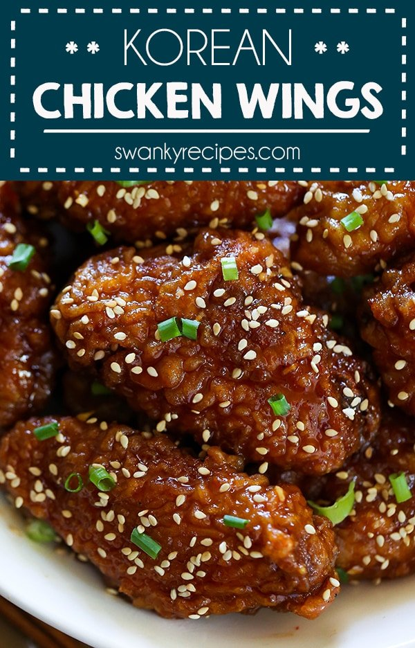 Korean Fried Chicken Wings - A Korean classic with extra crispy chicken wings glazed in a spicy sweet Korean sauce recipe. The ultimate chicken wing appetizer to serve for game day.