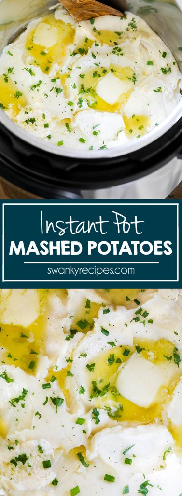 Mashed Potatoes made in the Instant Pot pressure cooker