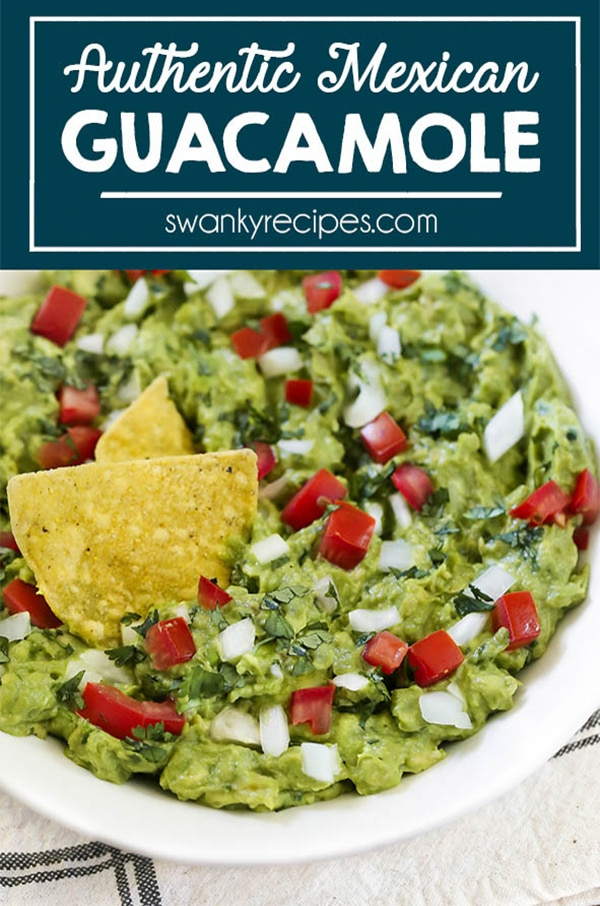The BEST authentic Guacamole served as a dip with gluten-free Mexican tortilla chips.