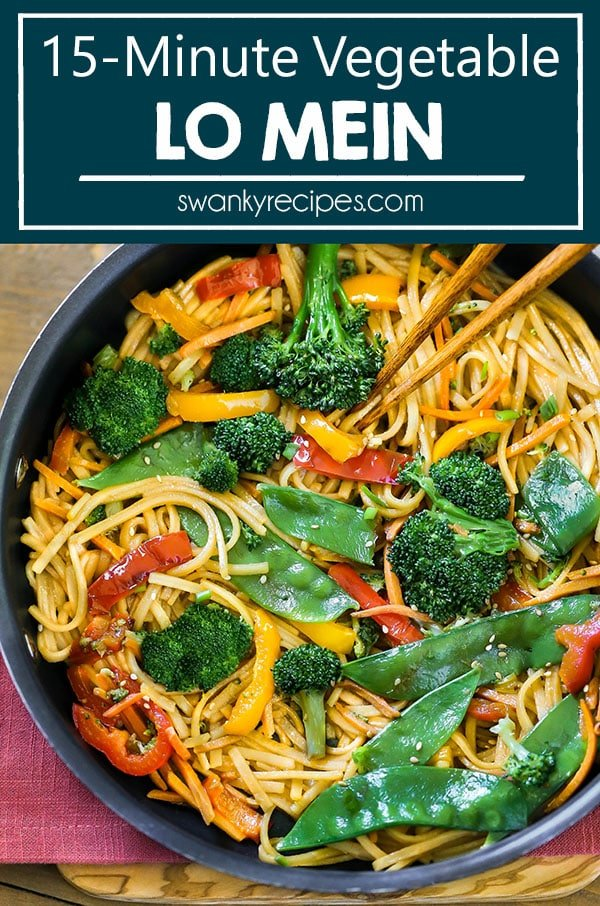 Skillet fried vegetables served in saucepan with chopsticks, lo mein noodles, and Chinese sauce.