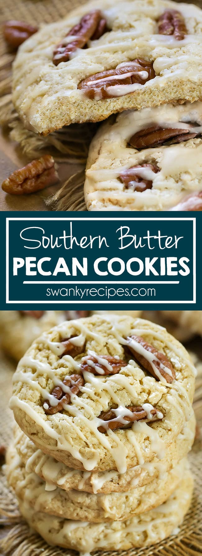 Butter Pecan Cookies - Chewy maple butter cookies with pecans. A classic southern cookie recipe that is perfect for fall and holiday baking like Christmas and Thanksgiving. These butter pecan cookies feature to recipe versions; 1 cake mix cookie recipe and 1 from scratch recipe.
