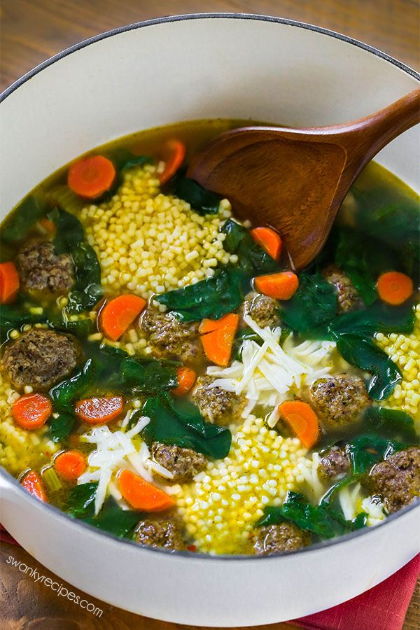 Italian Wedding Soup is my favorite hearty winter soup with Italian beef meatballs, pasta, vegetables, and cheese. A vegetable-based soup with deep flavors.