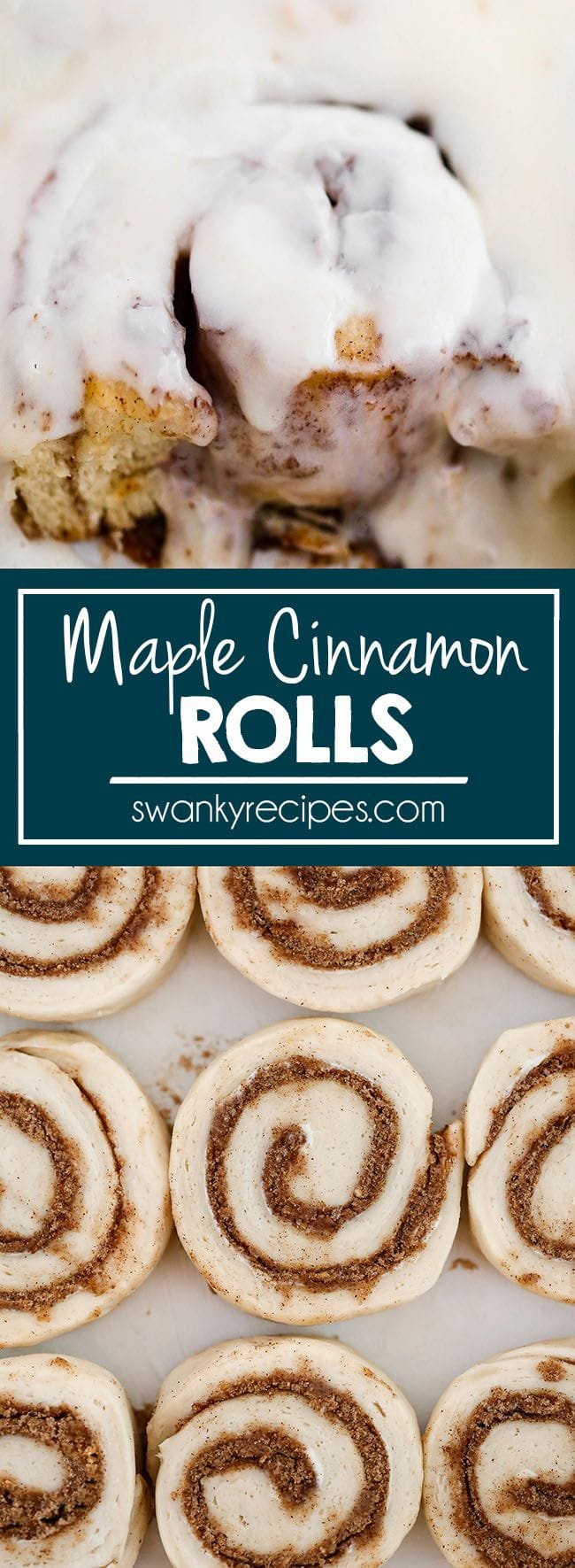 Soft and Fluffy Cinnamon Rolls with Maple cream cheese icing. These maple frosting cinnamon rolls recipe are the BEST EVER and perfect for Christmas breakfast.