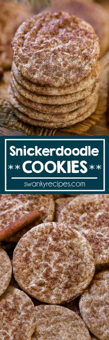 Snickerdoodles - The most amazing Snickerdoodle Cookie recipe. Baked soft and chewy, these cookies are easy to make last minute for a Christmas cookie tray or party.