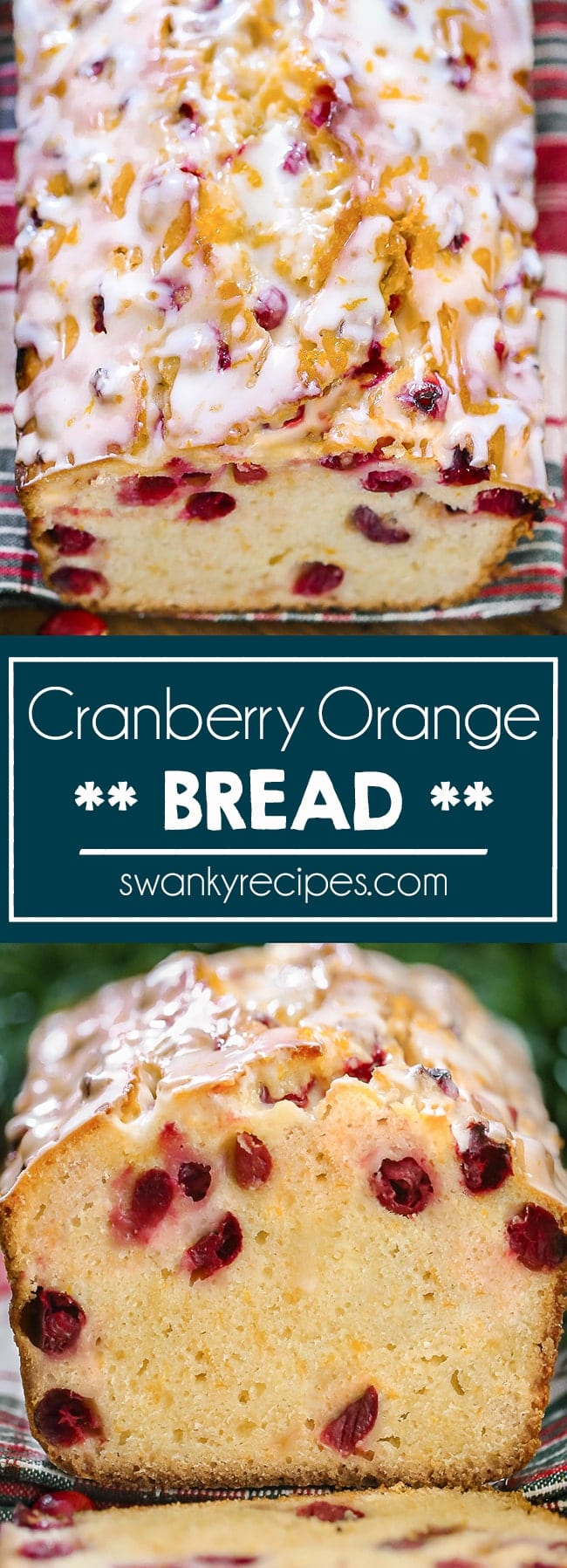 Fresh Cranberry and Orange bread. An easy Christmas quick bread that tastes just like pound cake.