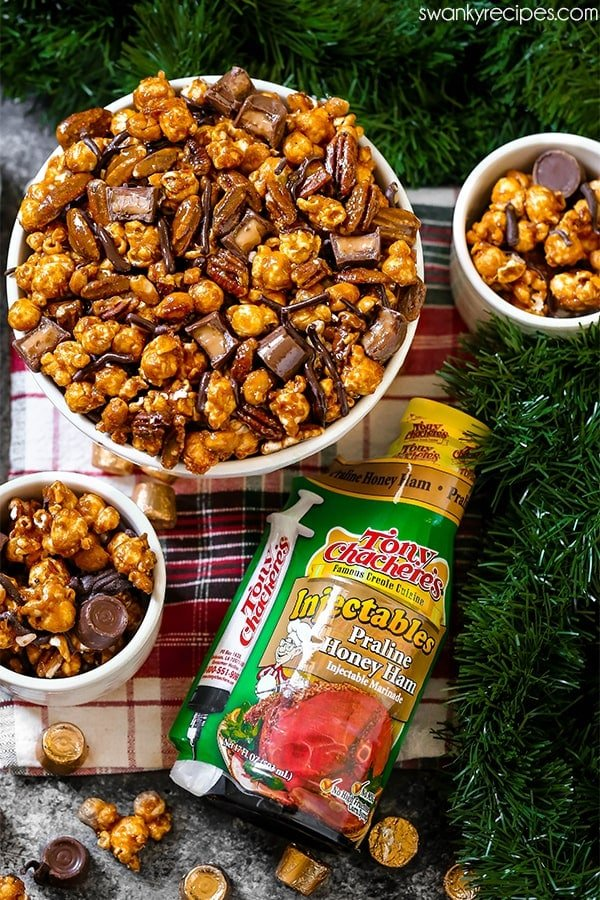 Moose Munch with crunchy golden toffee caramel popcorn.