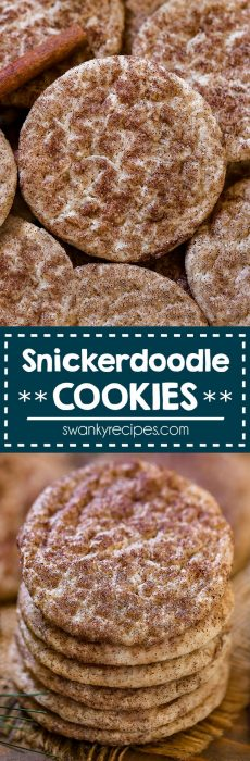 Snickerdoodle Cookies - The BEST soft and chewy sugar cookies rolled in cinnamon sugar. A popular Christmas cookie recipe for the holiday season.