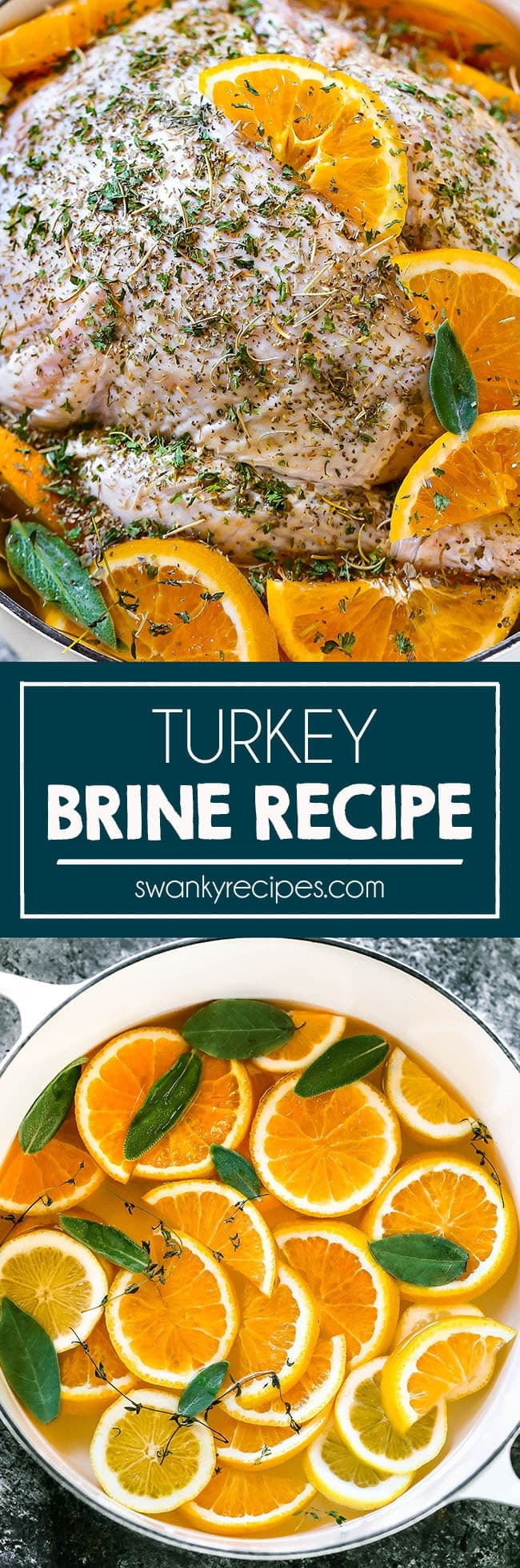 Easy Salt water brine recipe for turkey or poultry. This turkey brine recipe creates juicy, moist,flavorful turkey or chicken. Flavor with oranges, lemons, poultry seasoning, fresh herbs or fruit juice.