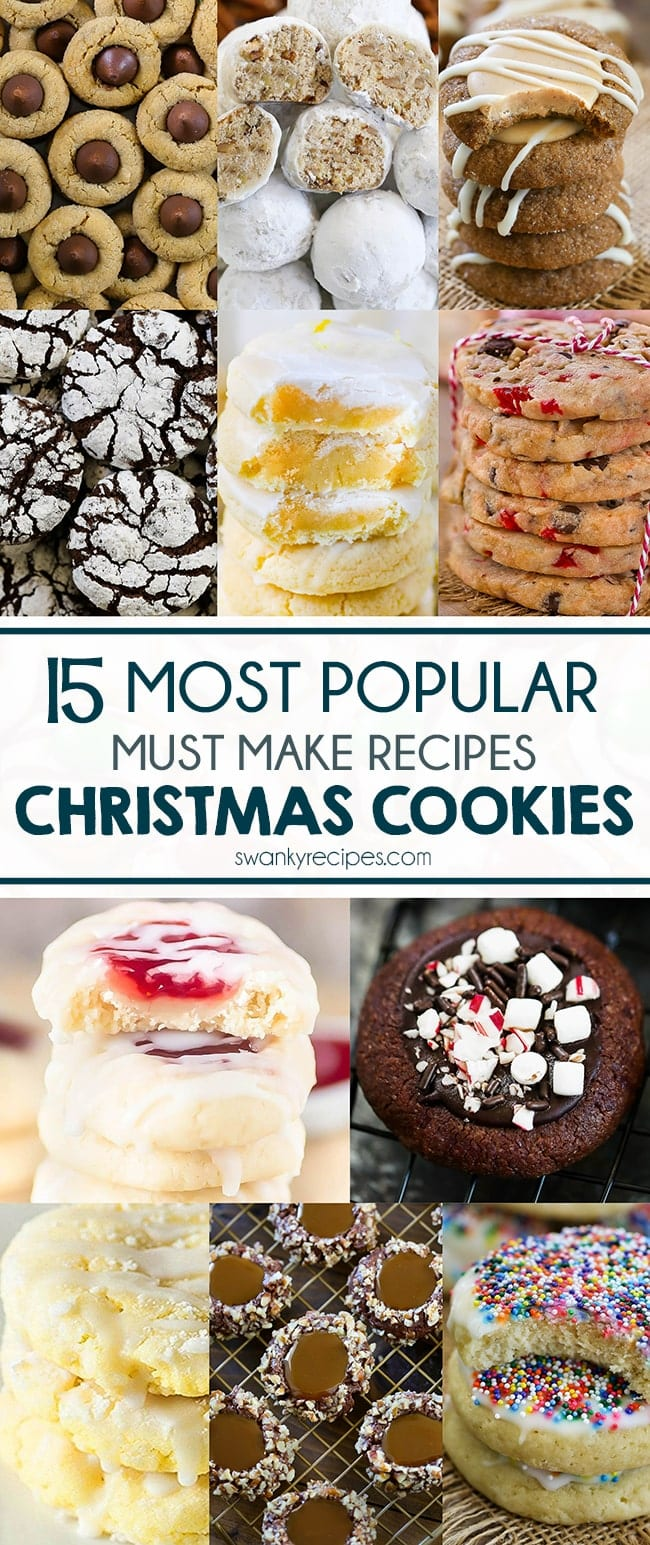 Popular Christmas Cookies Recipes to try with the kids and family. Everyone raves how delicious these classic holiday cookies recipes are. Serve at your party, make with the kids, or share with Santa. Stock your cookie box with these must make Christmas cookie recipes.