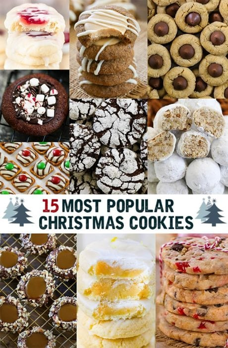15 Christmas Cookie Recipes to make. The BEST list to serve at your next holiday party.