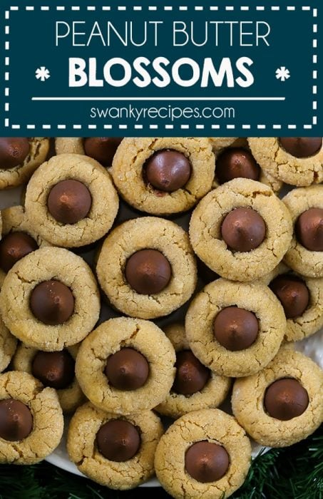 It's not Christmas without these Peanut Butter Blossoms Cookies. An updated version to vintage recipe your mother and grandmother made. This peanut butter cookie recipe with Hersey kisses candy uses real butter and bakes up chewy every time. You won't be able to stop eating at just one. Go ahead and make a batch for the party, then make a batch for yourself!