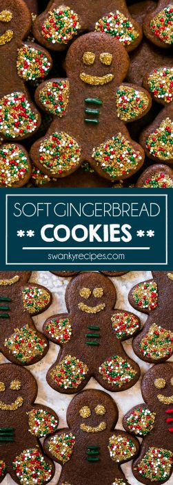 Gingerbread Cookies are a classic Christmas cookie made with molasses, ginger, nutmeg, cloves, and cinnamon. BEST classic holiday cookie recipe.