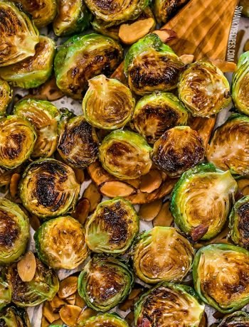 Easy oven-roasted ranch and lemon brussels sprouts.