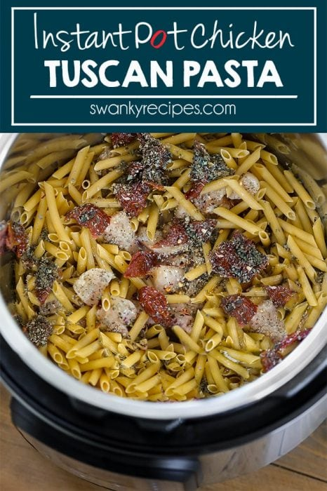 Quick and easy chicken pasta with Italian flavors. Made in the instant pot pressure cooker with chicken broth.