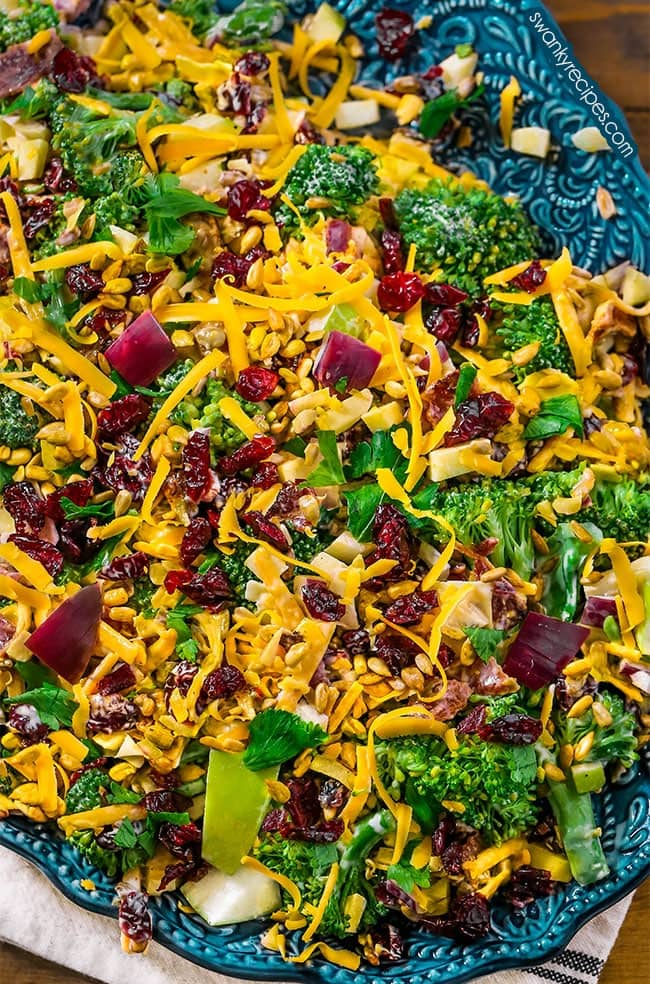 Broccoli Salad - The BEST Broccoli Salad recipe with fresh ingredients tossed in a creamy cool dressing.