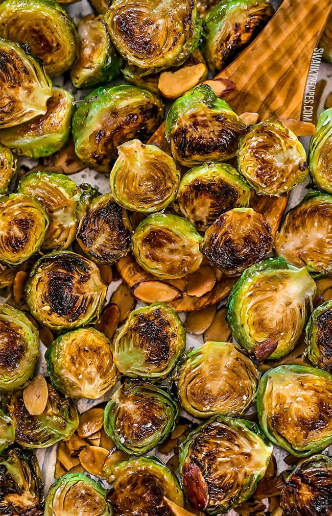 CRACK BRUSSELS SPROUTS are T H E B E S T oven-roasted brussels sprouts with an outrageously easy and totally delicious seasoning blend. Baked with a little crunch and served with toasted almonds, this vegetable recipe is top-rated among my family for a good reason.