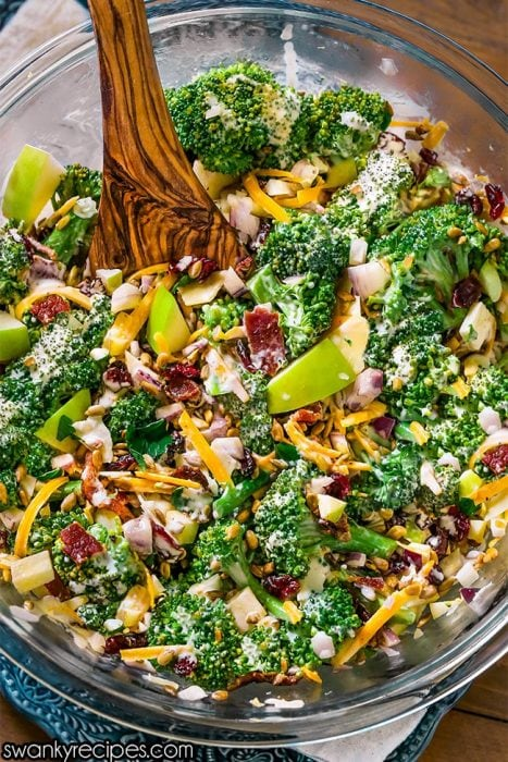 Broccoli Salad - The BEST Easter side dish with fresh crunch. Our family devours this healthy salad recipe made with fresh ingredients.