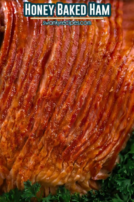 HONEY BAKED HAM RECIPE is an Easter staple and you won't miss buying it at triple the cost from the HoneyBaked Ham store. Bake this honey crusted sugar glazed ham with classic flavors for Easter and other holidays like Mother's Day and Christmas dinner.