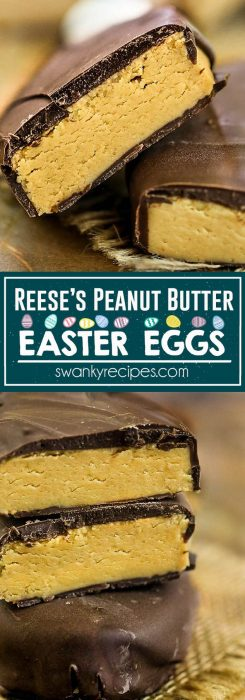 REESE'S PEANUT BUTTER EASTER EGGS are incredibly easy to make from scratch. Plus, you'll wind-up with triple the recipe for the original cost of this popular Easter candy. Make this classic candy recipe if you're craving chocolate covered peanut butter candy.