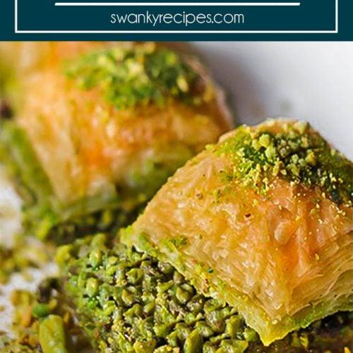Turkish Pistachio Baklava Recipe Swanky Recipes