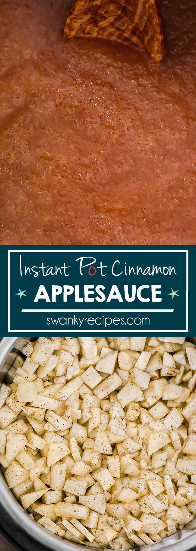 Instant Pot Applesauce - Easy 9-minute applesauce recipe made in the Instant Pot pressure cooker with just 5-ingredients. A classic smooth texture with the perfect balance of sweetness.