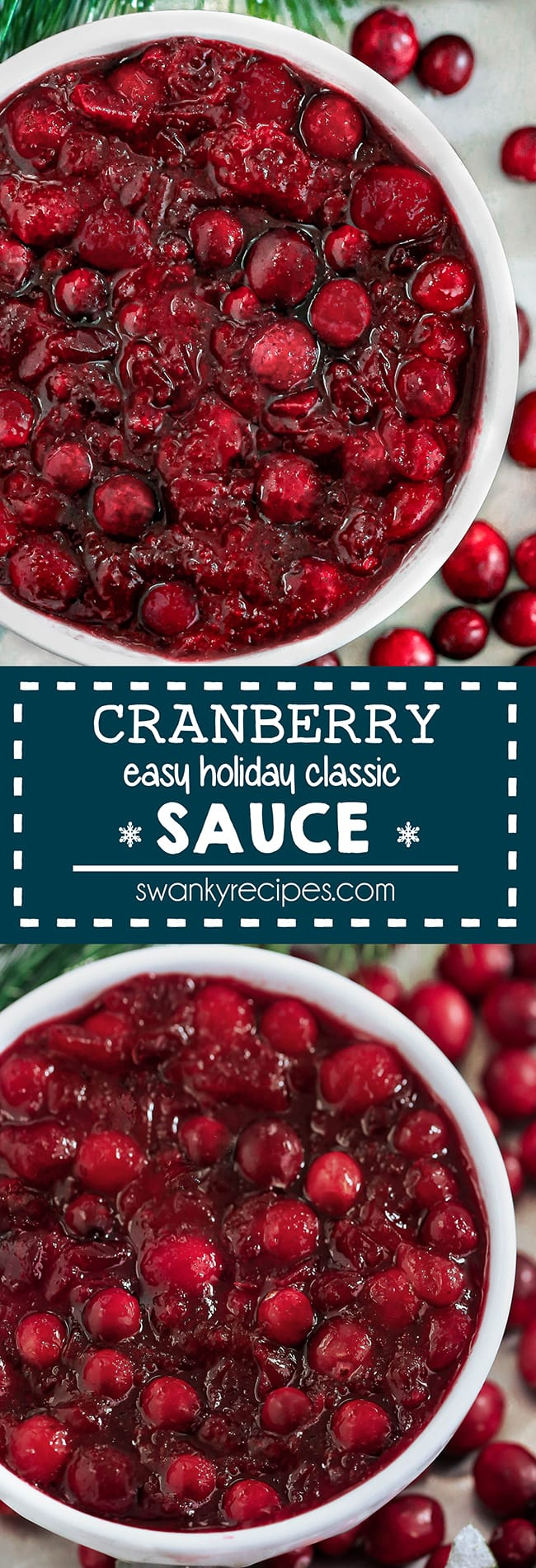 Easy Cranberry Sauce Recipe - Quick 10 minute cranberry sauce with easy ingredients. A classic Thanksgiving and Christmas side dish recipe with fresh fruit. Never buy cranberry sauce again with this delicious recipe.